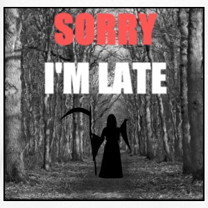 Sorry i'm late Tee shirts - T-shirt Homme col V