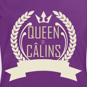 Queen of Câlins Brown - T-shirt contraste Femme