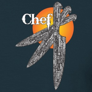 Chef Triple Knife Design T-Shirts - Men's T-Shirt