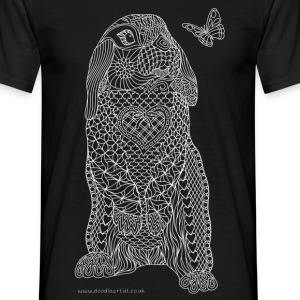 Rabbit and butterfly - Men's T-Shirt