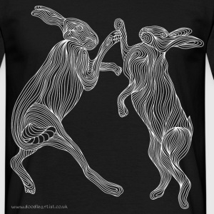 Boxing hares - Men's T-Shirt