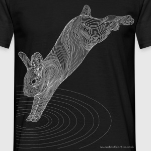 Leaping rabbit - Men's T-Shirt