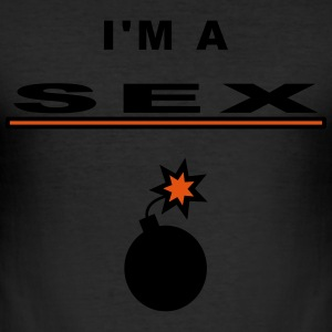 sex bombe T-Shirts - Männer Slim Fit T-Shirt