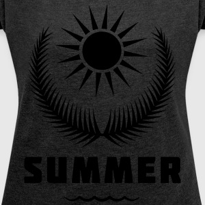 Summer - Women's T-shirt with rolled up sleeves