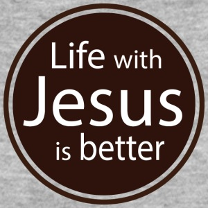 Life with Jesus is better T-Shirts - Frauen Bio-T-Shirt