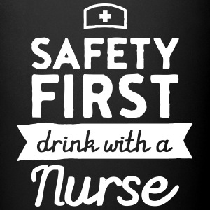 Safety First - Drink With A Nurse Kopper & tilbehør - Ensfarget kopp