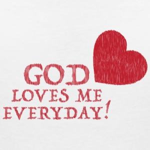God loves me everyday! T-Shirts - Frauen T-Shirt mit V-Ausschnitt