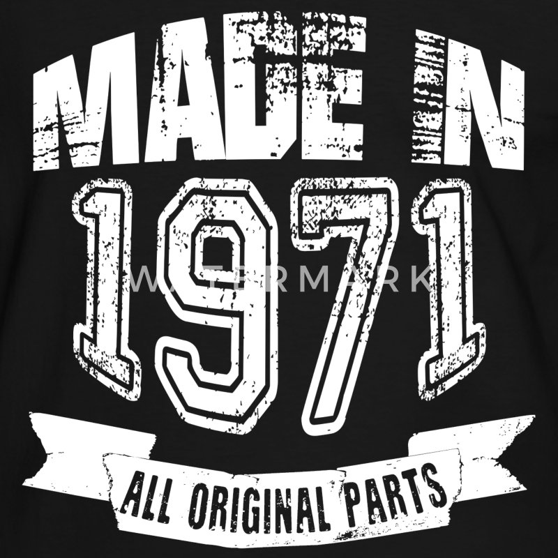 Made in 1971 - Camiseta contraste hombre