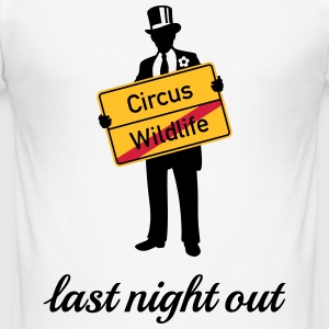 Wildlife Circus / Last Night Out (Bräutigam / JGA) T-Shirts - Männer Slim Fit T-Shirt