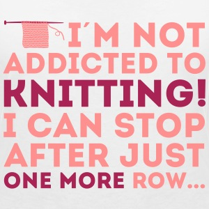 I'm not addicted to knitting! I can stop T-skjorter - T-skjorte med V-utsnitt for kvinner