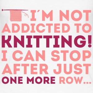 I'm not addicted to knitting! I can stop Top - Top da donna ecologico