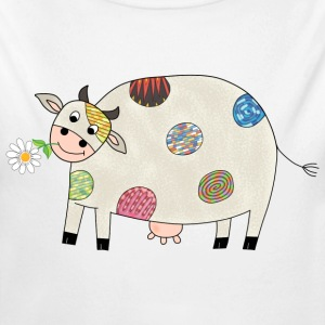 Happy cow baby bodysuit - Longlseeve Baby Bodysuit