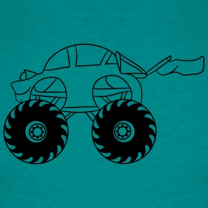 sweet cool monster truck comic eyes face cartoon c T-Shirts - Men's T-Shirt