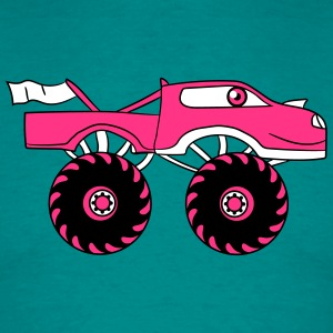 pink girl woman girl female monster truck cool com T-Shirts - Men's T-Shirt