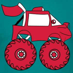 monstertruck comic eyes face cartoon cars T-Shirts - Men's T-Shirt