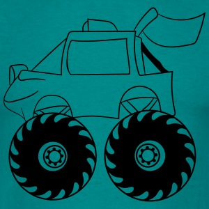 monster truck cool comic eyes face cartoon cars T-Shirts - Men's T-Shirt