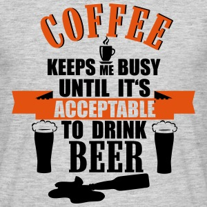 Coffee and Beer T-shirts - Herre-T-shirt