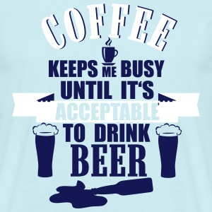 Coffee and Beer T-shirts - Mannen T-shirt