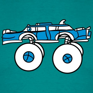 limousine long cool monster truck comic eyes face  T-Shirts - Men's T-Shirt