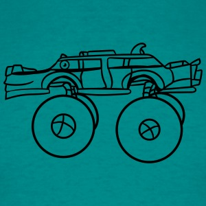 laughing cool monster truck comic eyes face cartoo T-Shirts - Men's T-Shirt