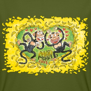 Mad Monkey Love T-Shirts - Männer Bio-T-Shirt