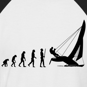 Cat Evolution T-Shirts - Männer Baseball-T-Shirt