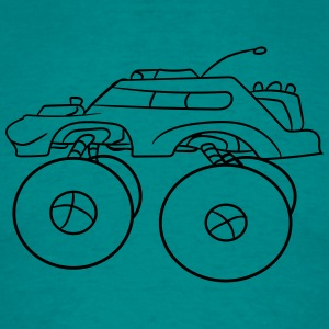 mindre kyla monster truck turbo T-shirts - T-shirt herr