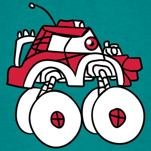 cool giant monster truck comic eyes face cartoon c T-Shirts - Men's T-Shirt