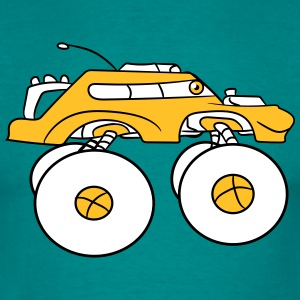 cool monster truck comic quickly eyes cartoon face T-Shirts - Men's T-Shirt