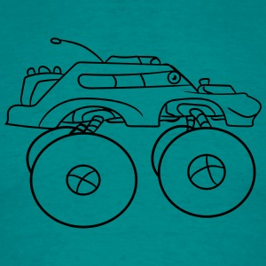 cool monster truck comic eyes face cartoon cars T-Shirts - Men's T-Shirt