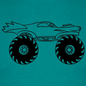 cool monster truck comic eyes face cartoon cars tu T-Shirts - Men's T-Shirt