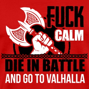 Viking - Die in battle and go to valhalla T-shirts - Premium-T-shirt herr