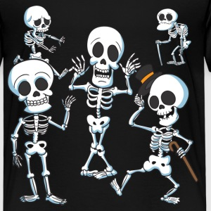 The Spooky Skeletons - Kids' Premium T-Shirt