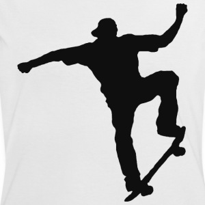 skater black - Women's Ringer T-Shirt