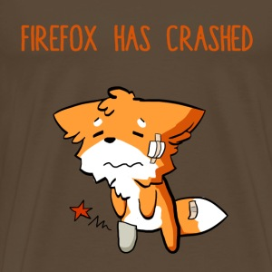 Marrón noble Firefox has crashed Camisetas - Camiseta premium hombre