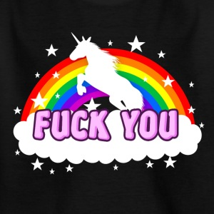 Unicorn Fuck you - Kinder T-Shirt