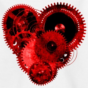 Steampunk Valentine Heart Teenager's T-Shirt - Teenage T-shirt