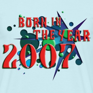 022016born_in_the_year_2007_c T-Shirts - Männer T-Shirt