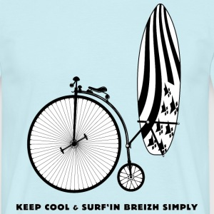 Keep Cool and Surf'in Breizh Simply - T-shirt Homme