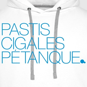 Pastis Cigales Pétanque Sweat-shirts - Sweat-shirt à capuche Premium pour hommes
