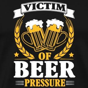 Victim of beer pressure T-skjorter - Premium T-skjorte for menn