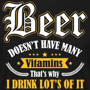Beer needs more vitamins Tee shirts - T-shirt Homme