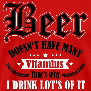 Beer needs more vitamins T-skjorter - Premium T-skjorte for menn