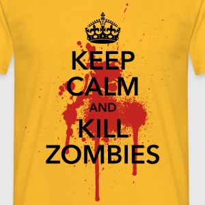 keep calm and kill zombies Halloween Blut Krone - Männer T-Shirt