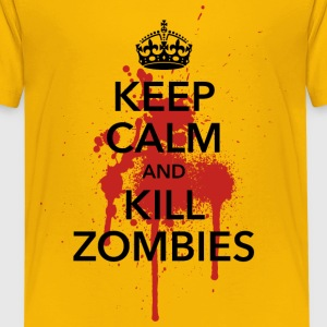 keep calm and kill zombies Halloween Blut Krone - Teenager Premium T-Shirt