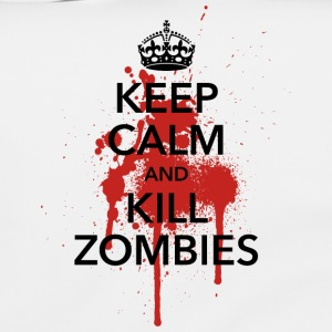 keep calm and kill zombies Halloween Blut Krone - Umhängetasche