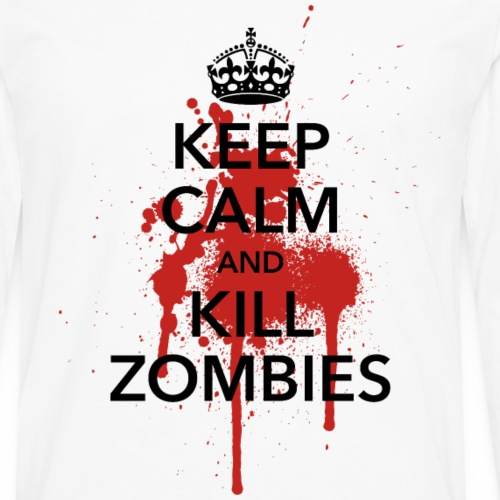 keep calm and kill zombies Halloween Blut Krone