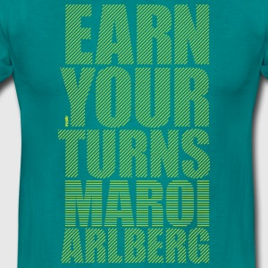Earn you turns - Maroi Arlberg T-Shirt - Männer T-Shirt