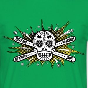 No Friends - Skiing Sugarskull T-Shirt - Männer T-Shirt
