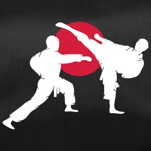 two karate fighter  Bags & Backpacks - Duffel Bag